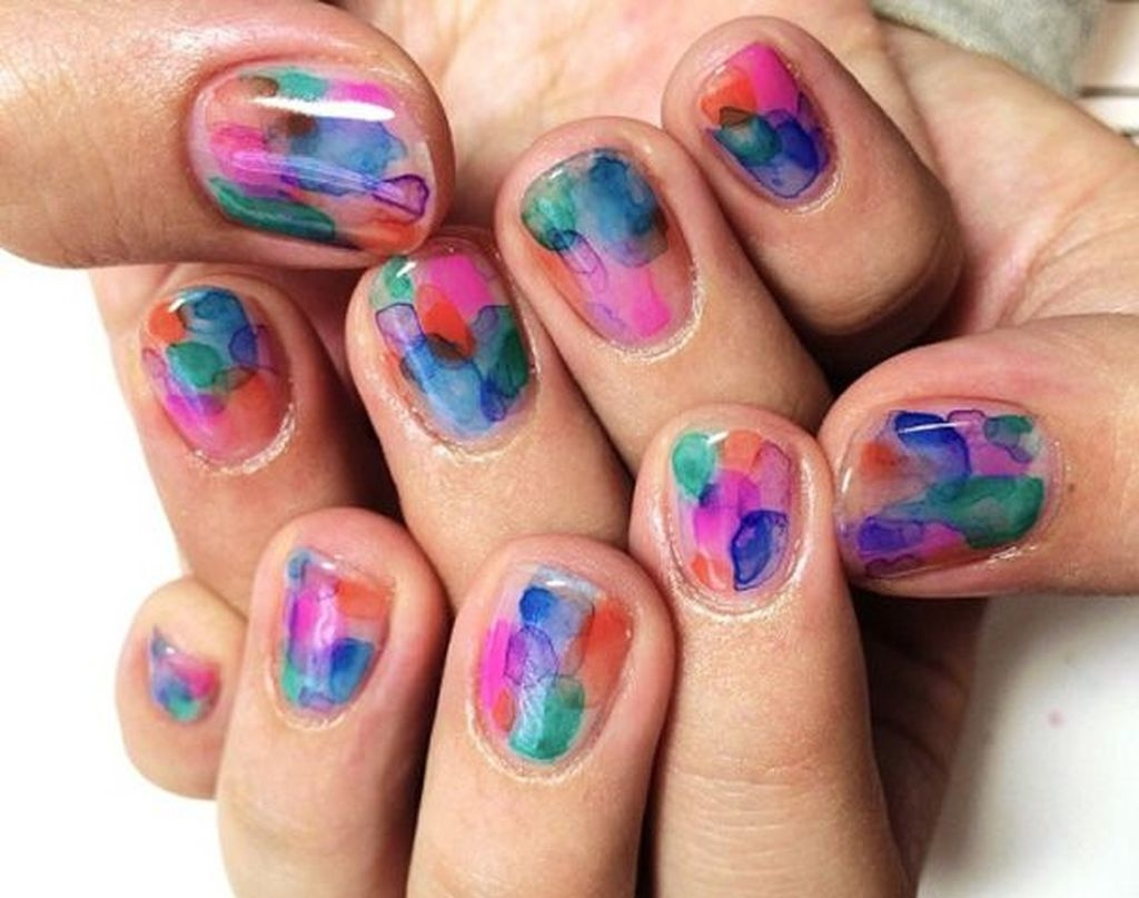 Unusual Watercolor Nail Art Ideas That Looks Cool